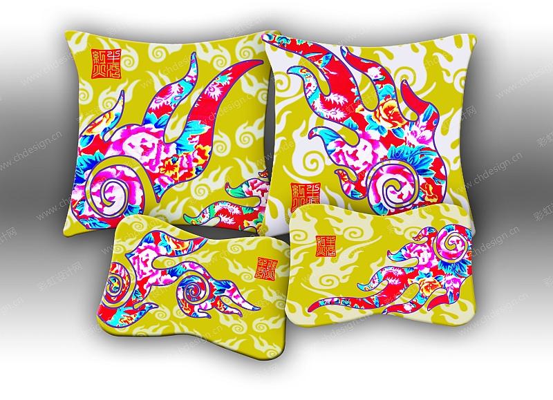 中国风家纺抱枕