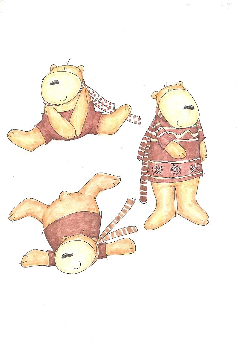 小熊树脂摆件