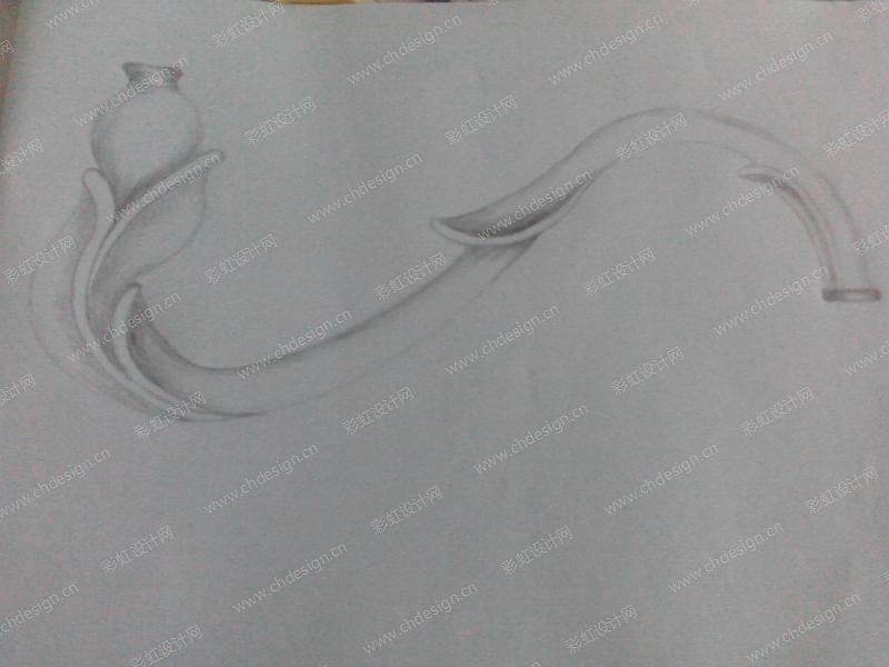 锌合金灯臂设计