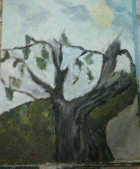 环保,枯萎的树