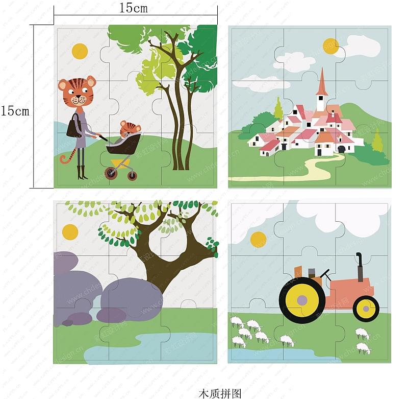 农场主题木质玩具