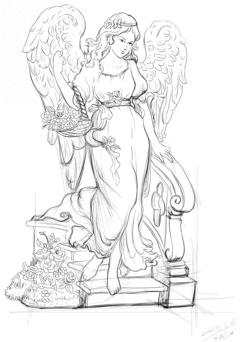 树脂天使摆饰