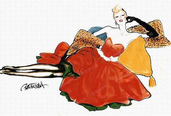 服装艺术画