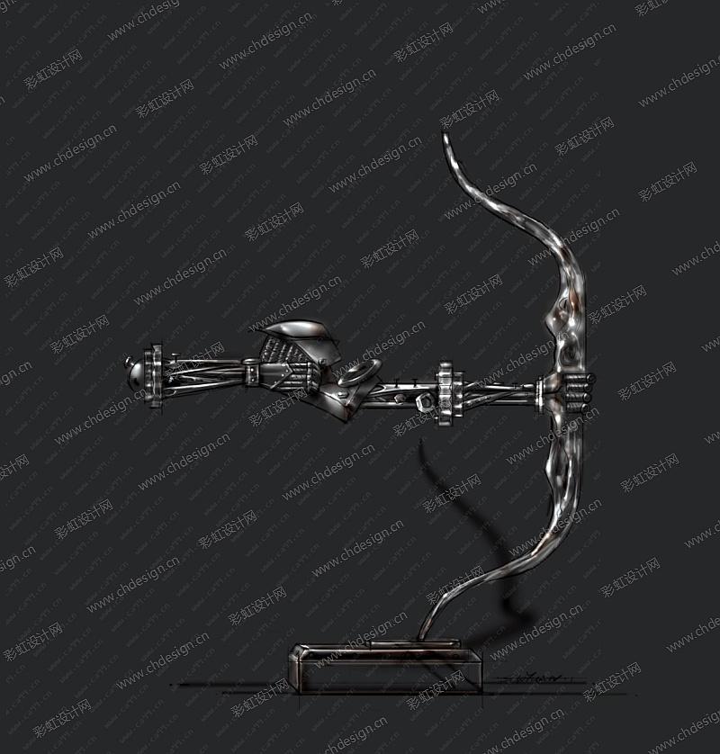 铁艺弓箭手摆件