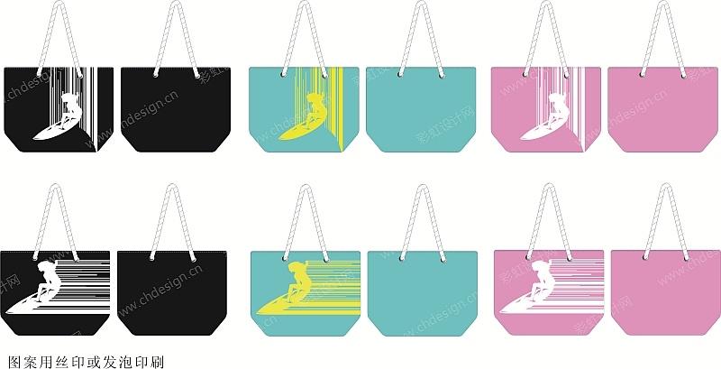 海洋风沙滩包,手提袋设计