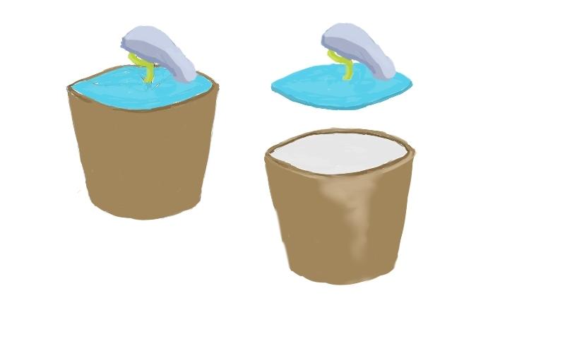 清新卡通花盆型创意水杯