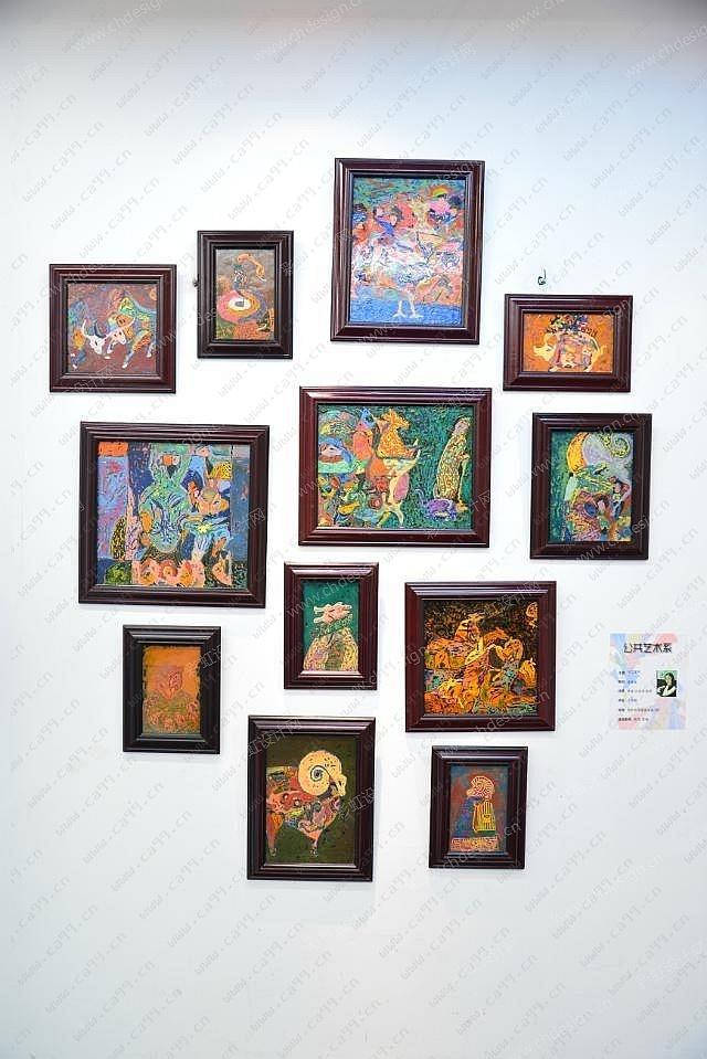 """现代城市壁画木板漆画家用装饰画毕业作品""""十二生肖""""系列"""
