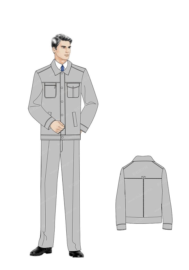 中级人员职业装设计