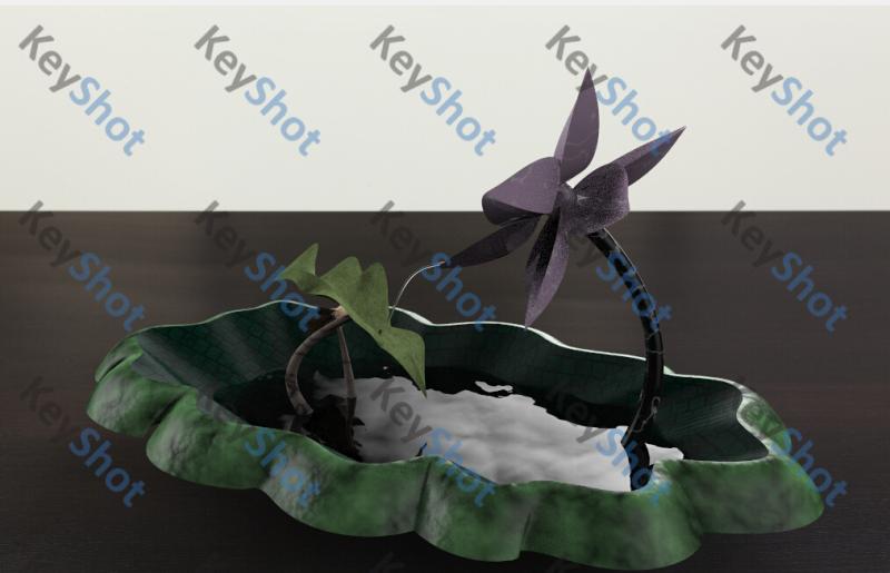 荷韵桌面流水设计
