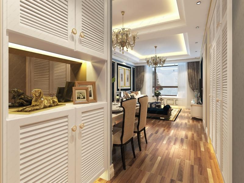 美式小清新风格客厅效果图