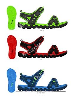 男女童凉鞋设计图