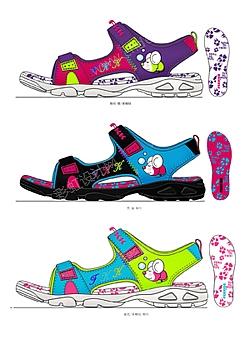 女童凉鞋设计图