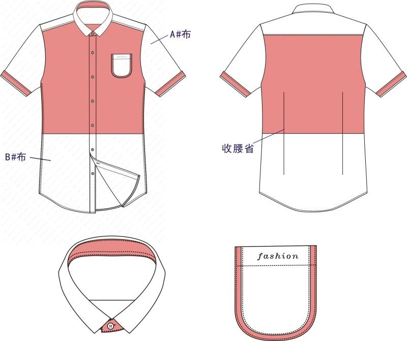 2015年春夏靓仔短袖休闲风衬衫
