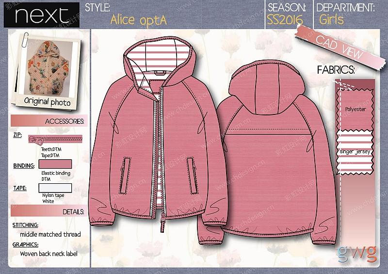 欧美风格,女装,男童 ,女童服装设计款式图,以及版单