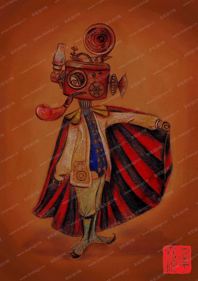 怀旧的蒸汽朋克卡通角色系列之《异日》