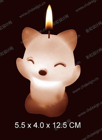 狐狸蜡烛造型