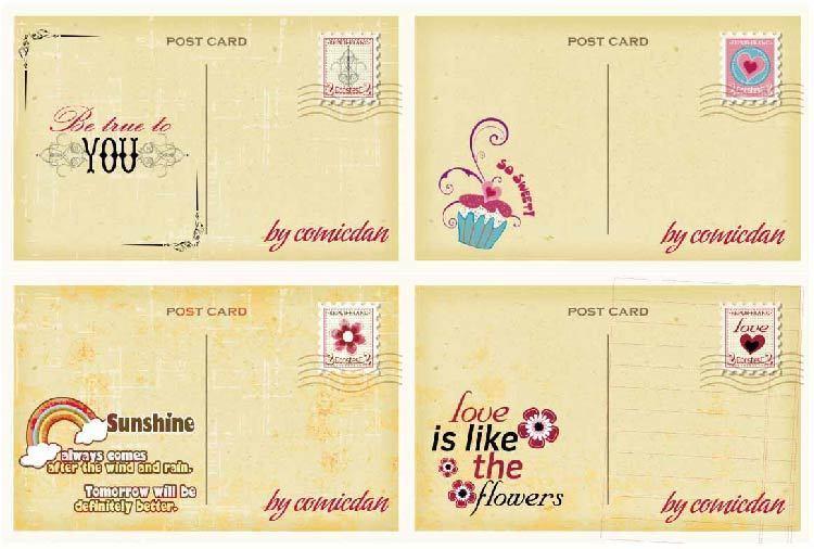 一张小卡片 创意设计