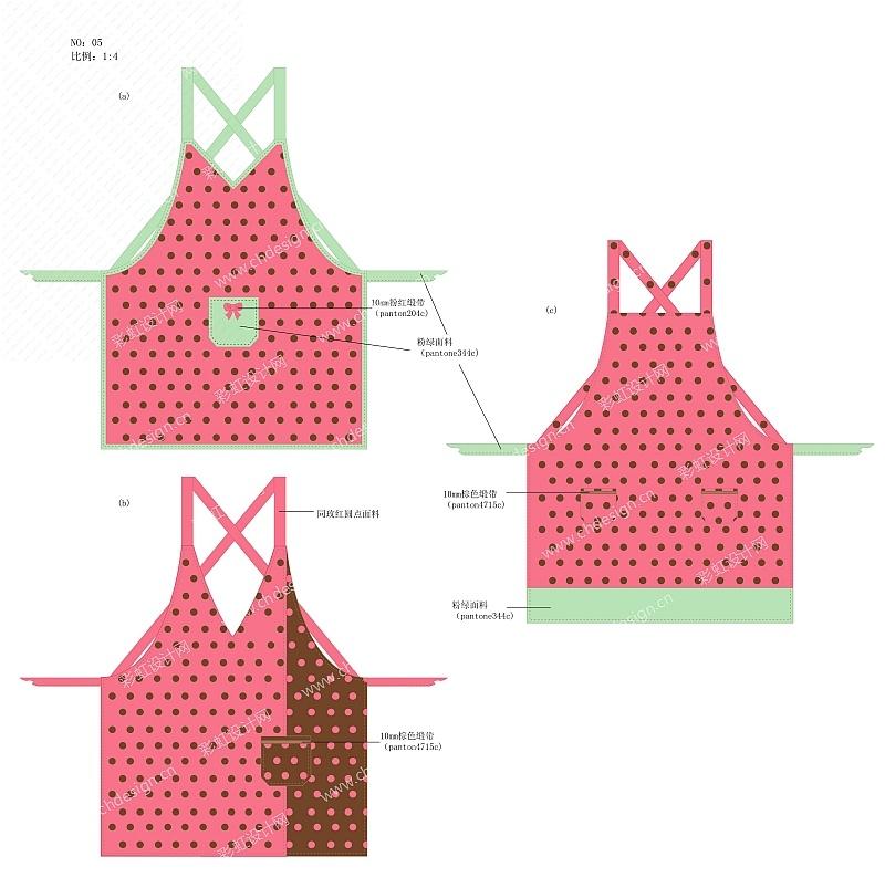 波点围裙家纺设计