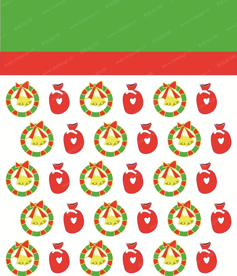 圣诞节纸袋图案设计