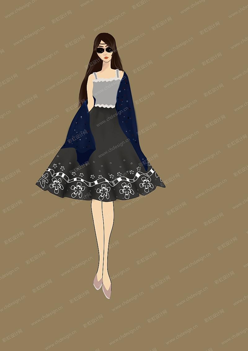 黑白复古服装设计