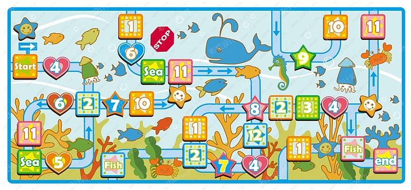 婴儿儿童卡通爬行垫花纹图案花色设计