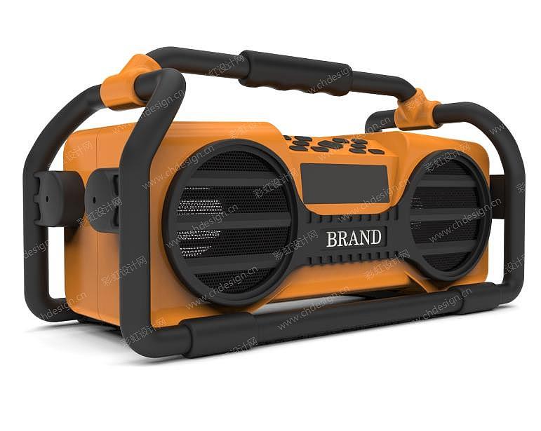 户外蓝牙音响设计 工地收音机 音箱设计