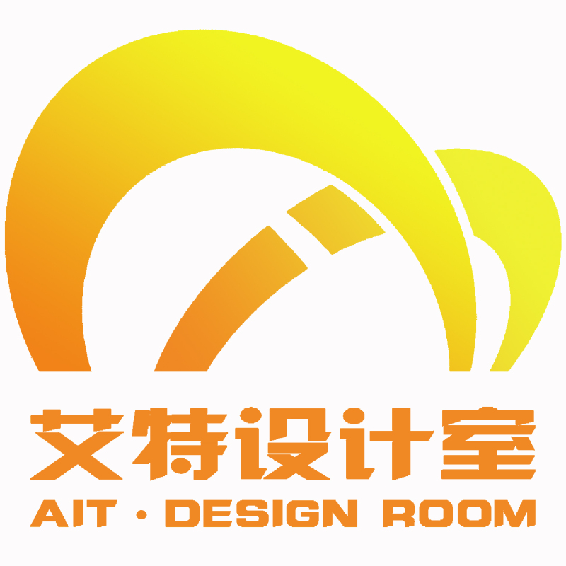AIT logo设计 以 A I T ait 为三字母为设计元素变形 商业
