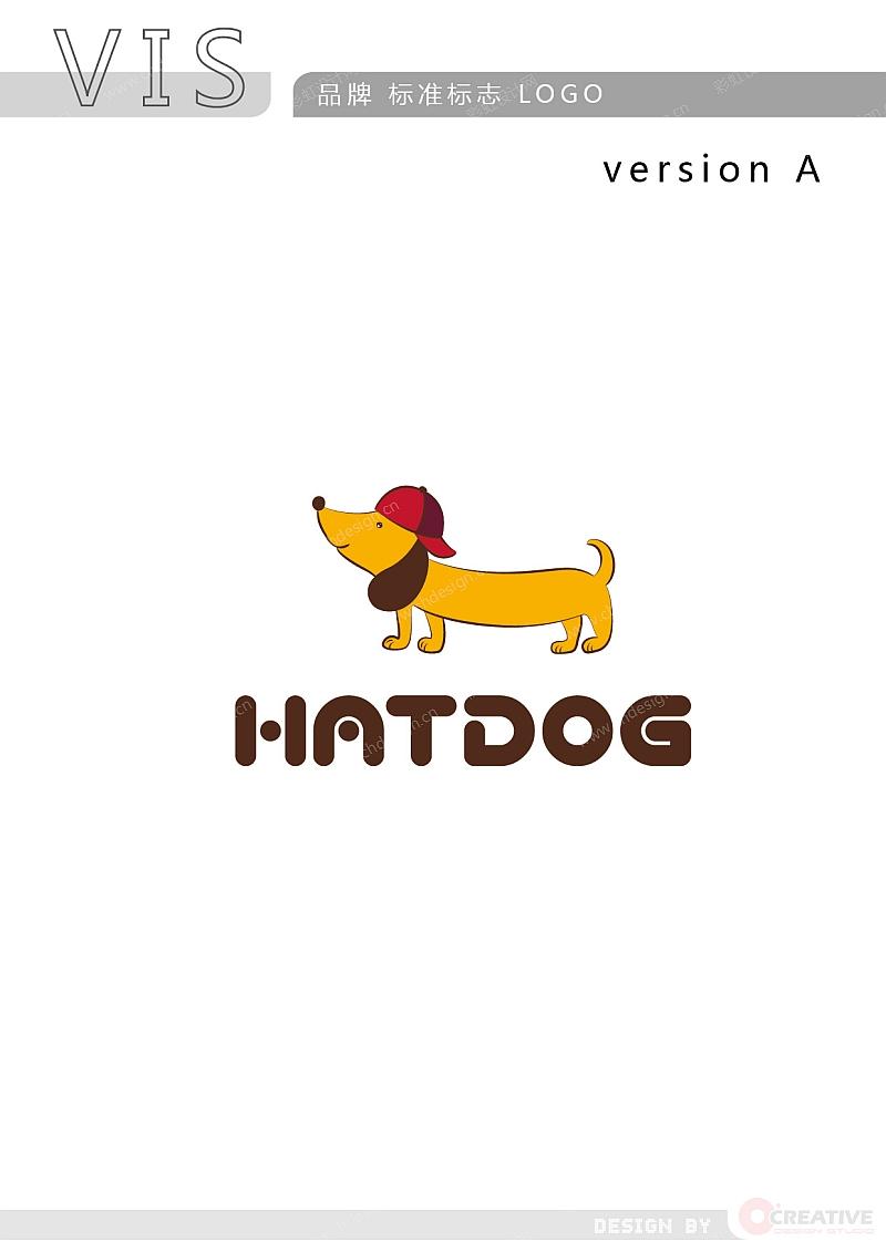 HATDOG 帽子品牌 LOGO-A