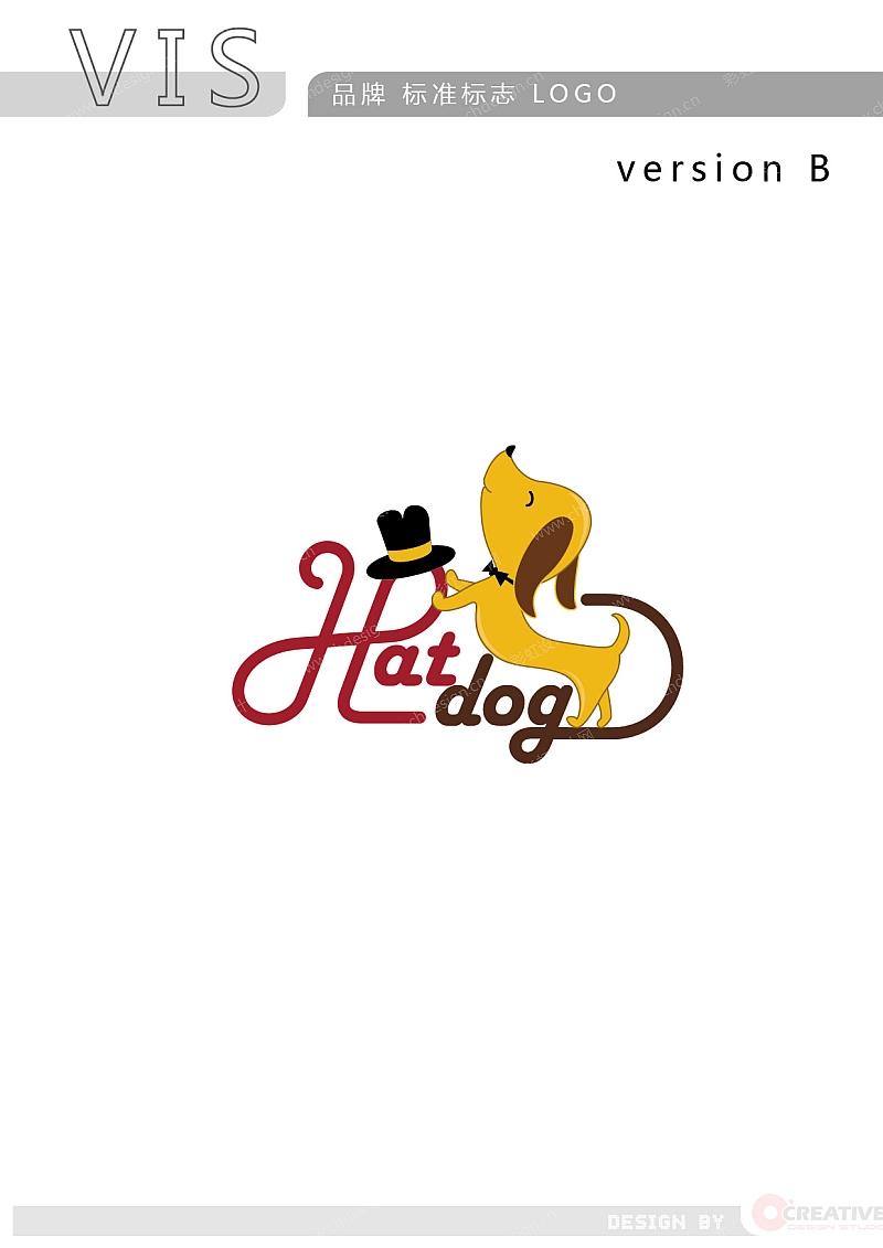 HATDOG 帽子品牌 LOGO-B