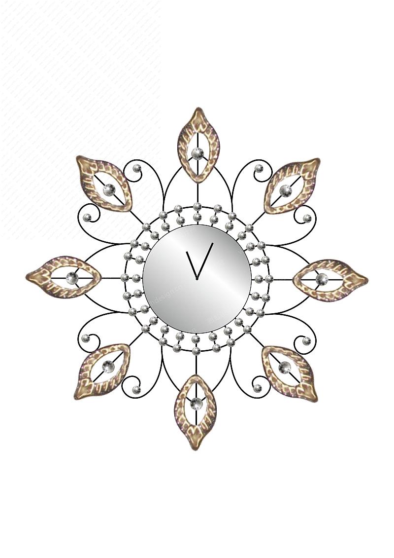原创欧美铁艺创意时尚挂钟