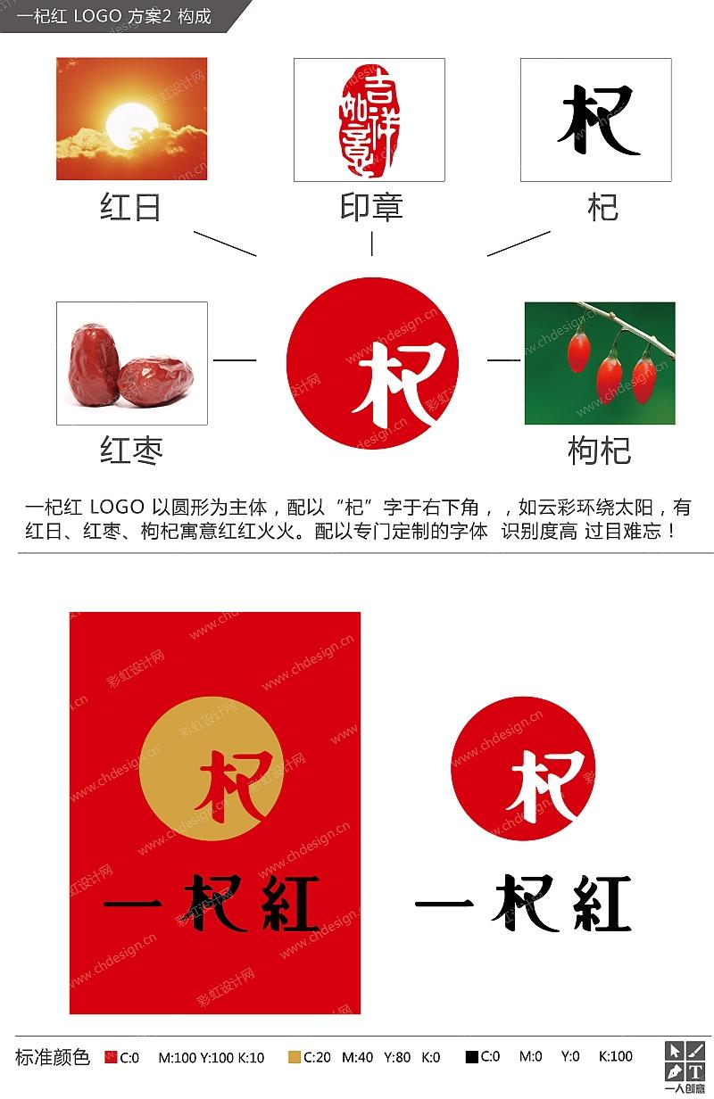品牌一杞红 LOGO 方案-2