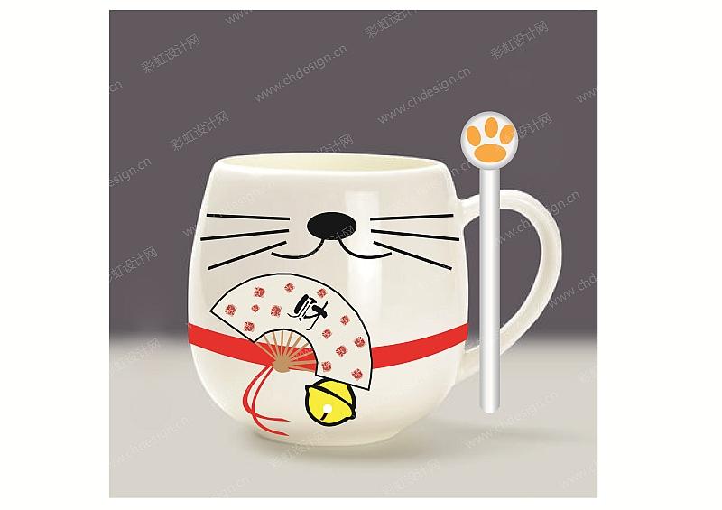 招财猫杯子