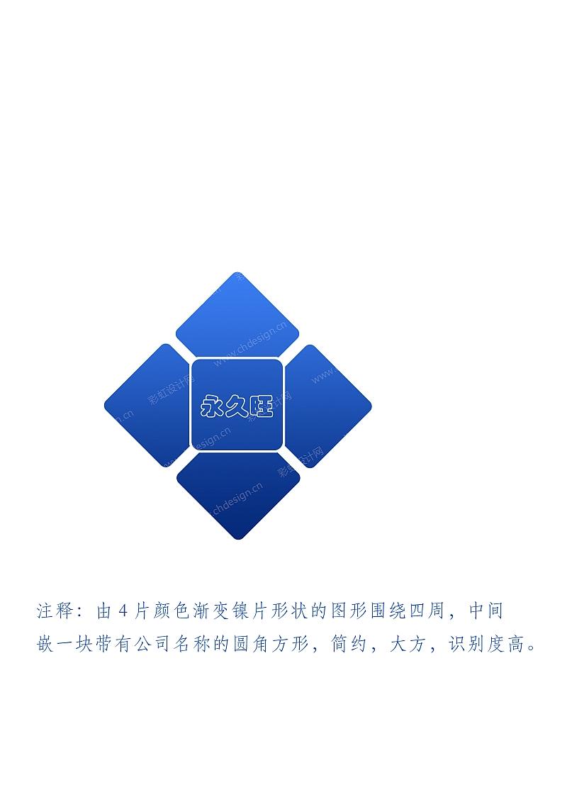 永久旺电子科技logo设计(图形化)