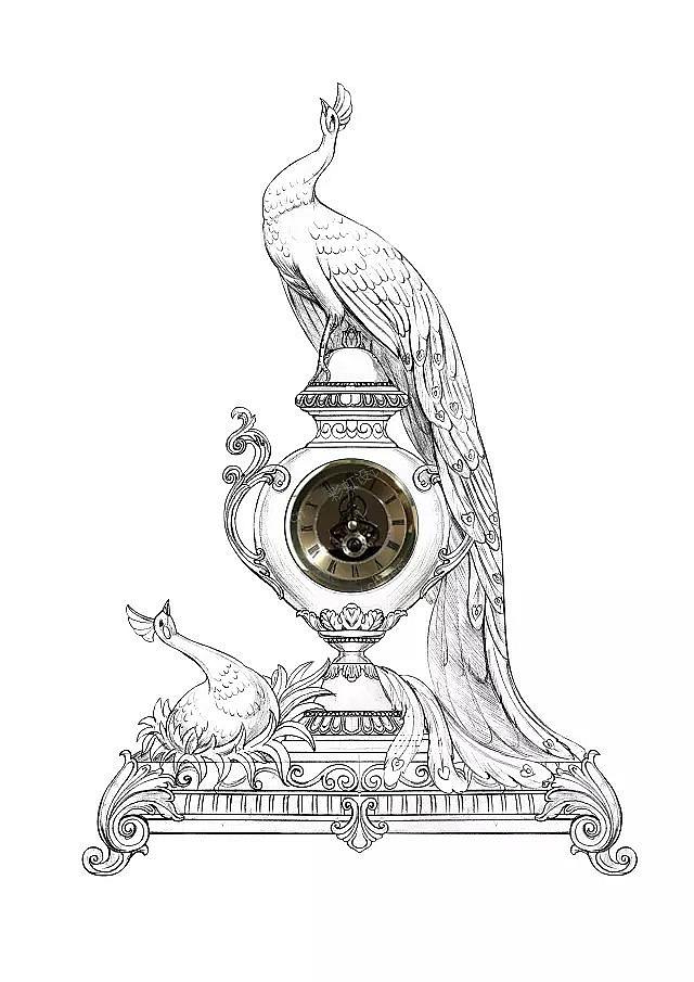 孔雀花瓶花插