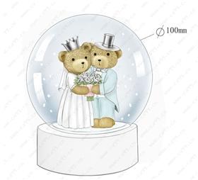 婚礼情人节小熊水球