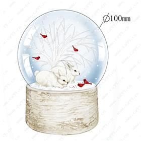 圣诞节兔子水球