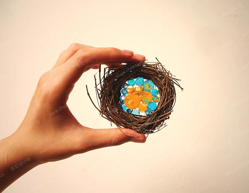 艺术玻璃制品温暖的巢