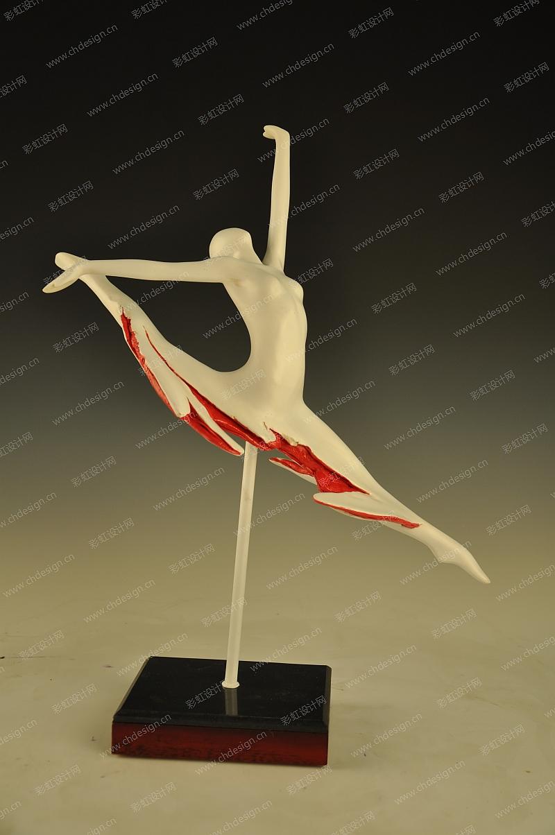 雕塑作品设计流动的音符系列