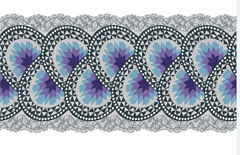 花型设计系列  纺织提花布图案