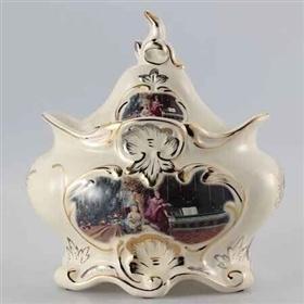 欧美陶瓷储物罐子雕塑