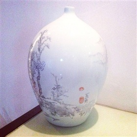 陶瓷花瓶花面设计