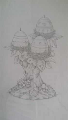 手绘复活节彩蛋设计