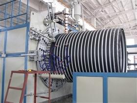 中空壁管材生產線