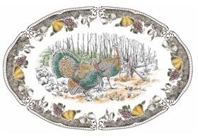 陶瓷丰收节火鸡盘子