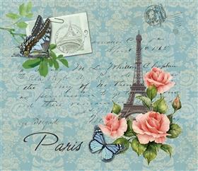 复古 巴黎 蝴蝶 花纸 图案