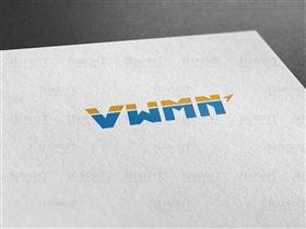 V、W、M、N全英文組合成圖標logo設計