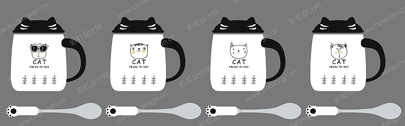創意卡通潮流貓杯
