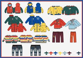 兒童秋冬系列服裝設計