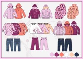 儿童秋冬系列服装设计