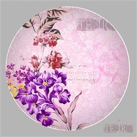 手绘花卉陶瓷餐具图案